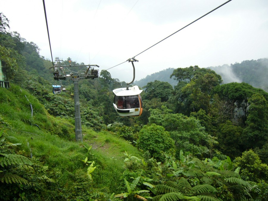 تلفريك جنتنج هايلاند cable cars Genting highlands