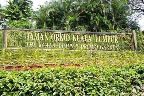 حديقه الأوركيد في كوالالمبور Orchid Garden